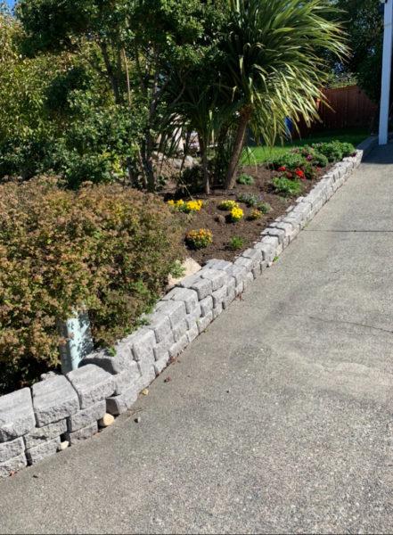 A failing block/brick wall needs work.